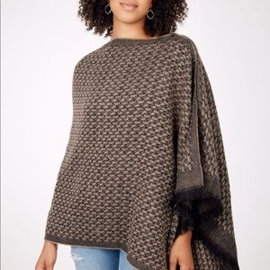 stella and for brown and black scarf poncho